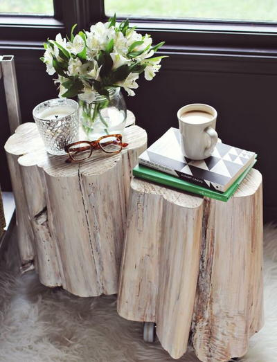 Incredible Tree Stump DIY Side Tables