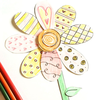 Cut And Color Printable Flower