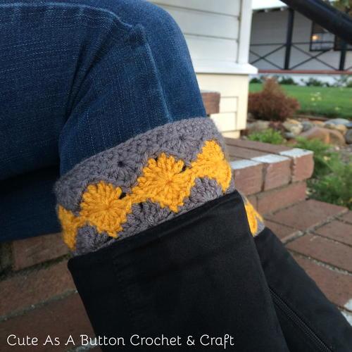 Diamond Boot Cuff Crochet Pattern AllFreeCrochet Stunning Boot Cuff Crochet Pattern
