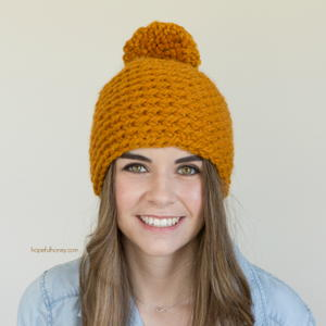 Toffee Apple Pompom Beanie