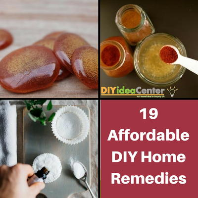 19 Affordable DIY Home Remedies