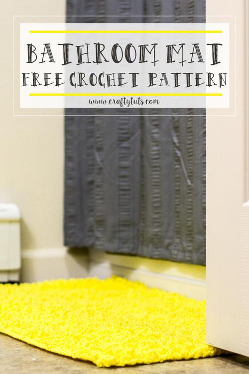Loopy Bathroom Mat Allfreecrochet