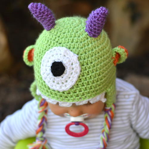 Littlest Monster Hat Allfreecrochet