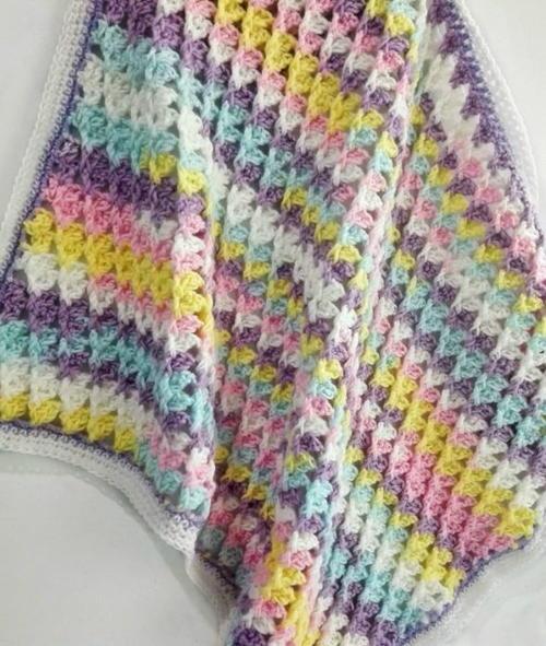 Pastel Peaks Crochet Baby Blanket Favecrafts