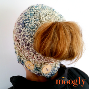 Pick Your Pony Crochet Bun Hat