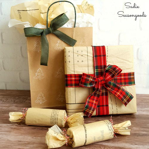 Sewing Pattern Gift Wrap Idea