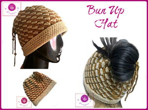 Bun Up Crochet Ponytail Hat