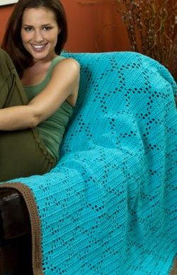 Easy Crochet Diamonds Throw