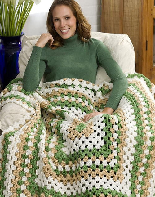 Weekend Wonder Giant Granny Square Throw Favecrafts