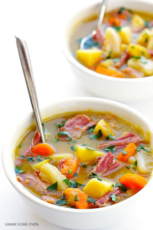 Slow Cooked Corned Beef and Cabbage Soup