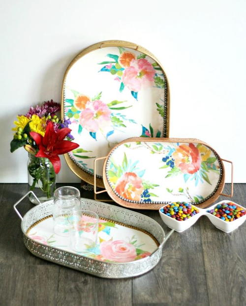 Elegant DIY Serving Trays