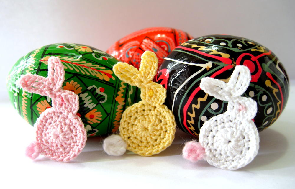 Easter Bunny Appliqu Crochet Pattern Allfreecrochet