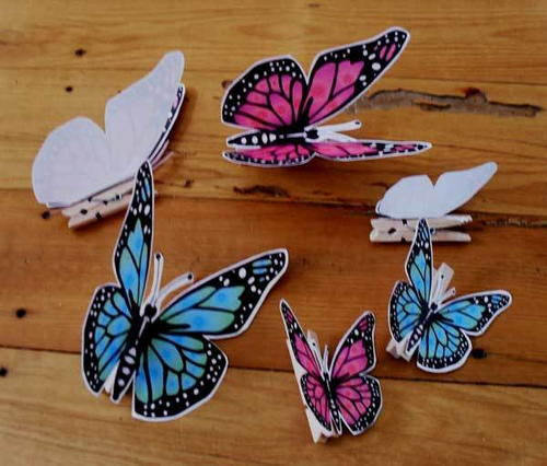 Mini Clothespin Butterflies