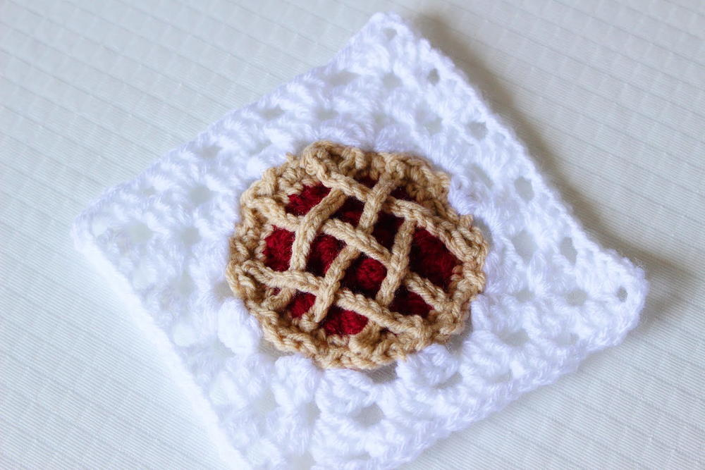 Cherry Pie Crochet Granny Square Allfreecrochet