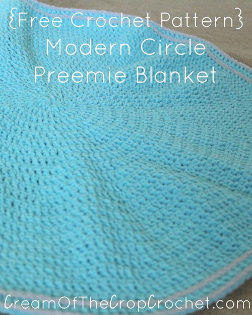 Modern Circle Preemie Blanket Allfreecrochet