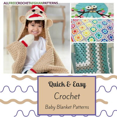 40+ Quick and Easy Crochet Baby Blanket Patterns ...