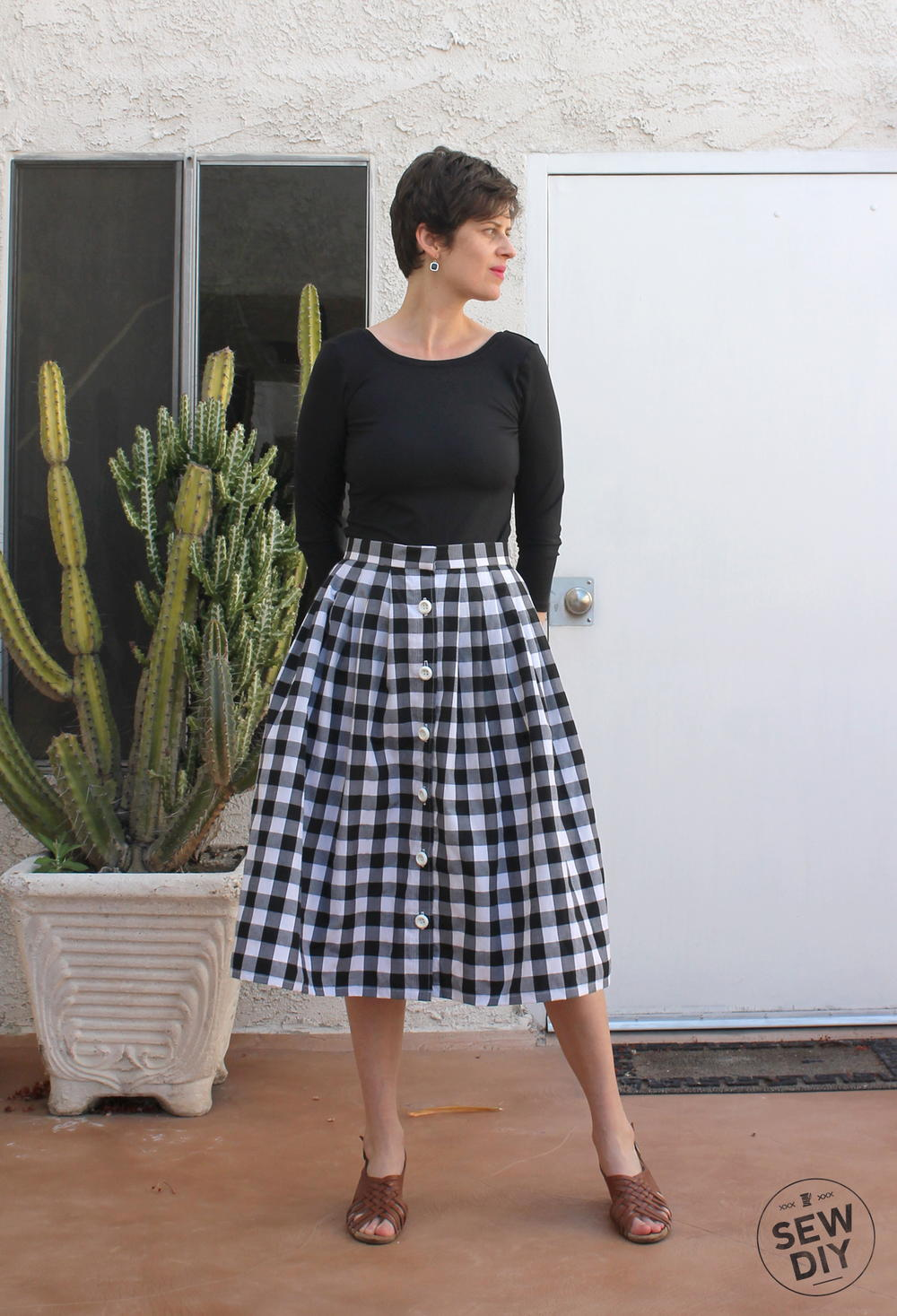 2 Yard Pleated Skirt Tutorial Allfreesewing Com