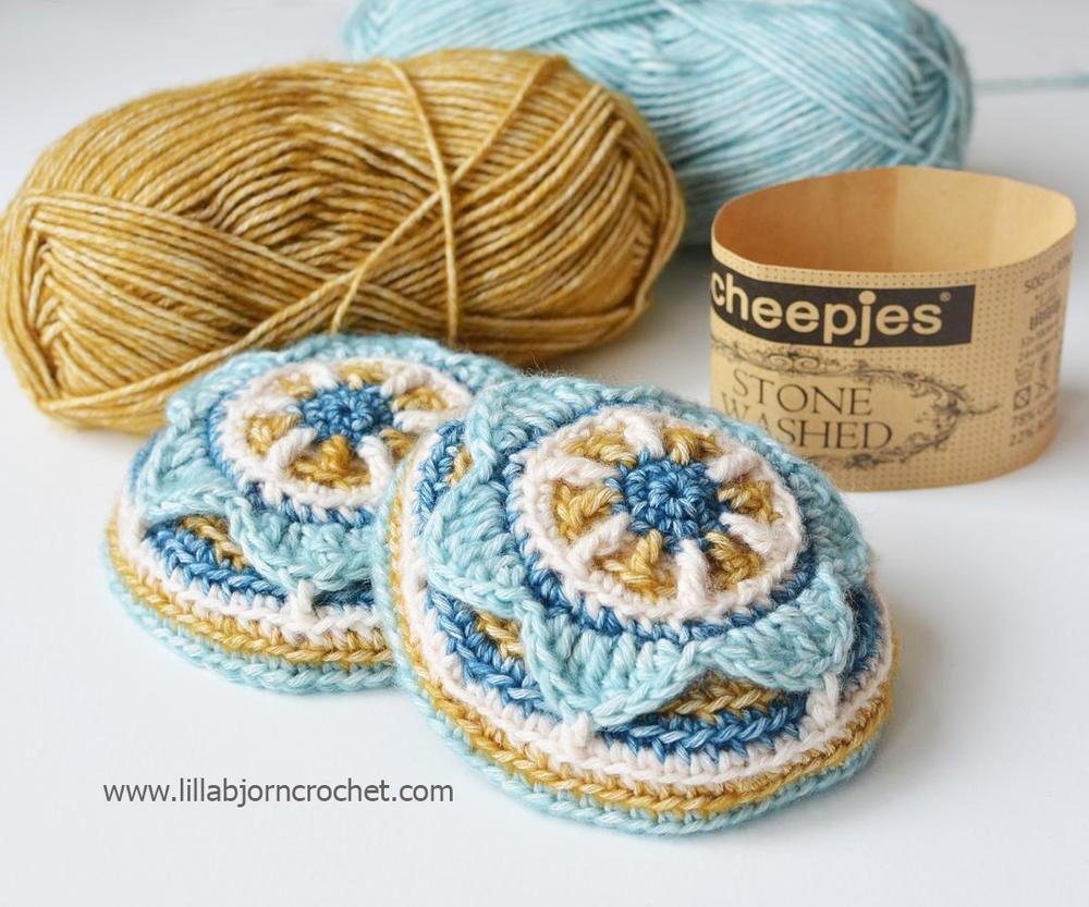 Flower Power Crochet Ear Muffs | AllFreeCrochet.com