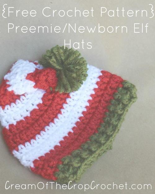 Preemienewborn Elf Hat Allfreecrochet