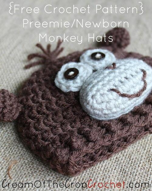 Preemienewborn Monkey Hat Allfreecrochet