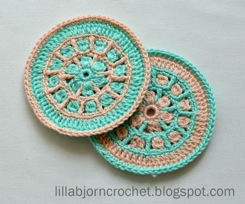 North Sea Mandala Crochet Coaster Allfreecrochet