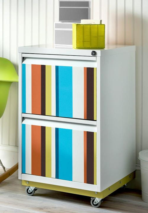 Color Splash DIY File Cabinet Makeover