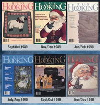 1989-2000 Issues of Rug Hooking Magazine