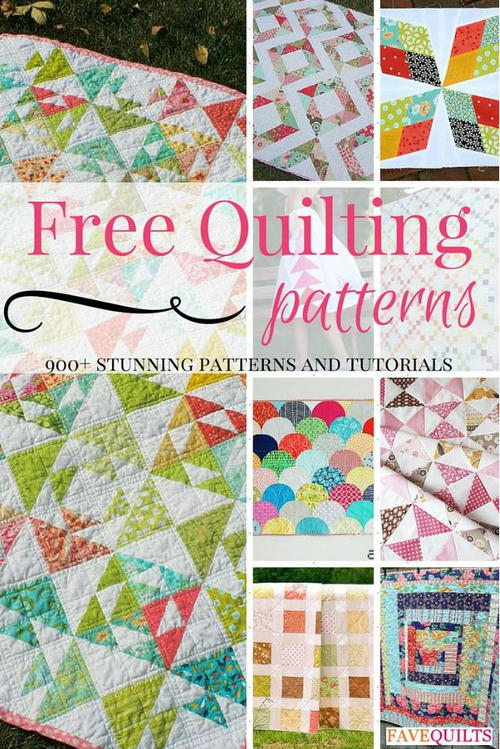 900 free quilting patterns