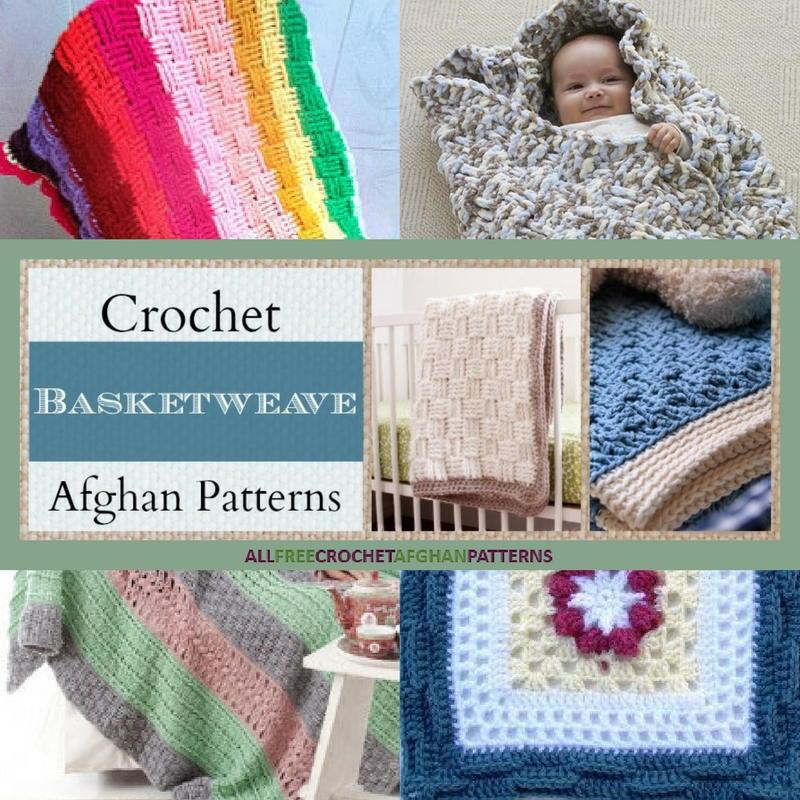 21 Crochet Basketweave Afghan Patterns