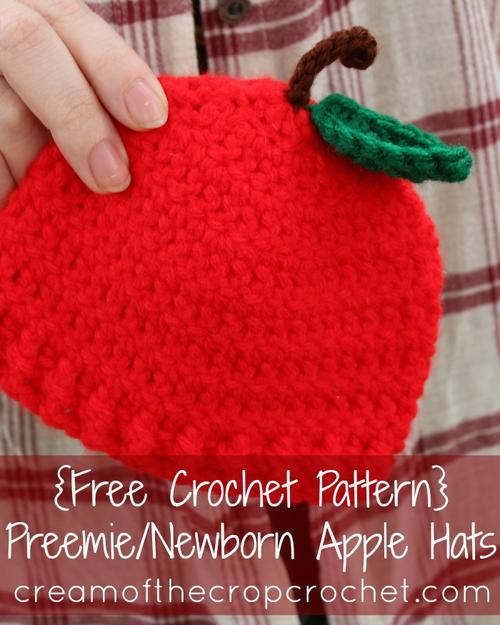 Preemienewborn Apple Hat Allfreecrochet