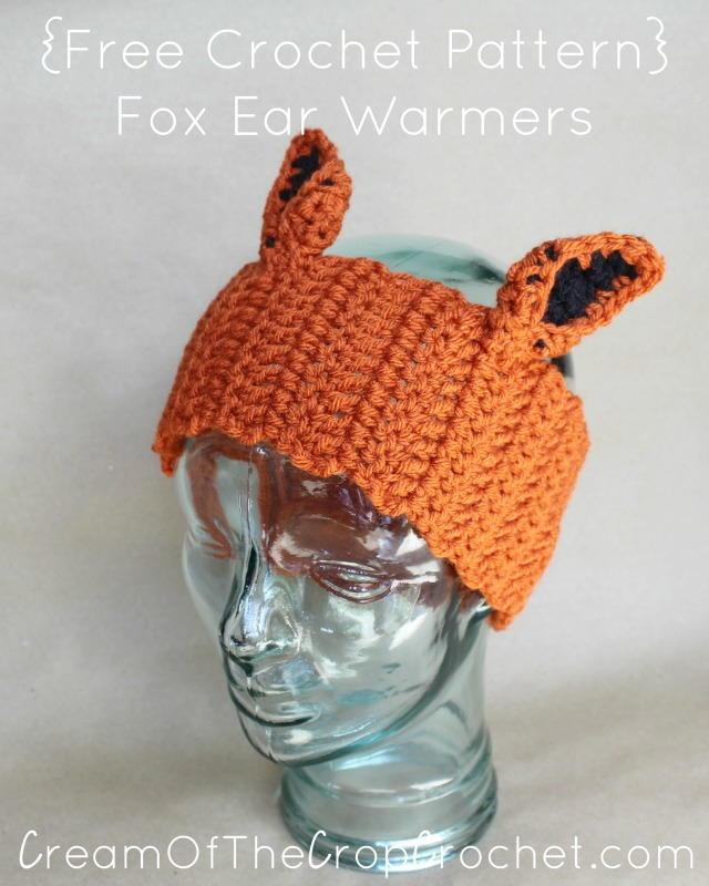 Fox Ear Warmers Allfreecrochet
