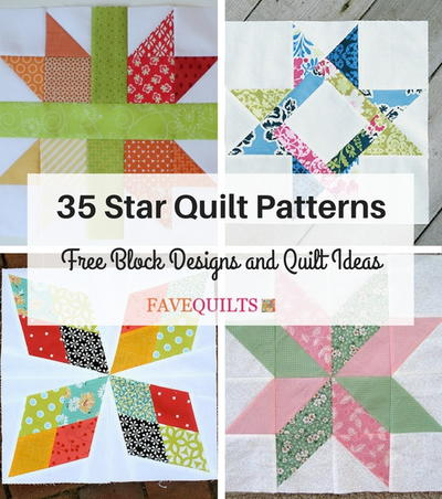 33 Star Quilt Patterns: Free Block Designs and Quilt Ideas ... : star block quilt pattern - Adamdwight.com