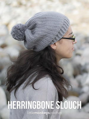 Herringbone Stitch Crochet Slouch