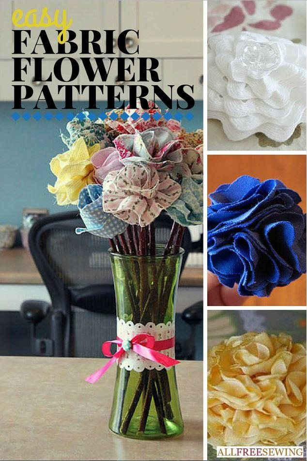 25+ Easy Fabric Flower Patterns | AllFreeSewing.com