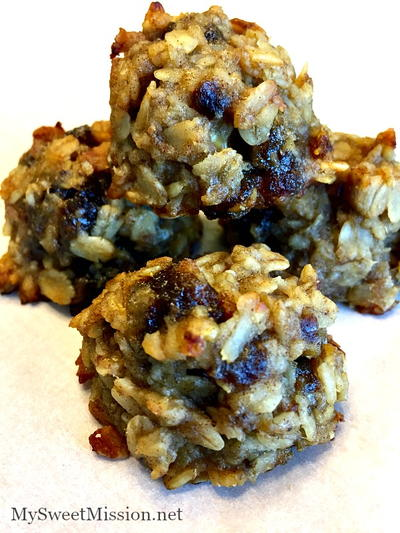Healthy Banana Date Cookies