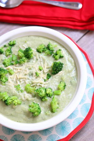 Slow Cooker Creamy Cauliflower Broccoli Soup