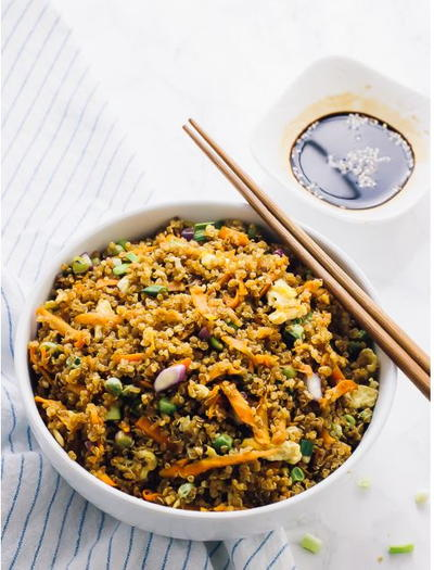 15 Minute Quinoa Fried Rice