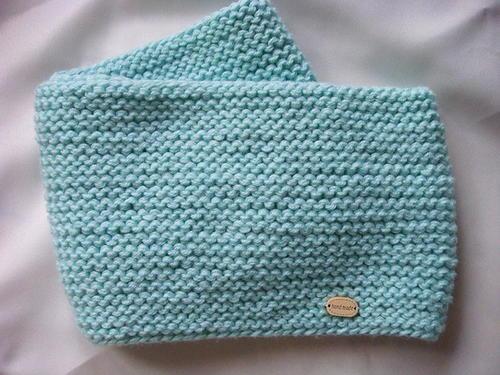 Ocean Top Knitted Baby Cowl Allfreeknitting