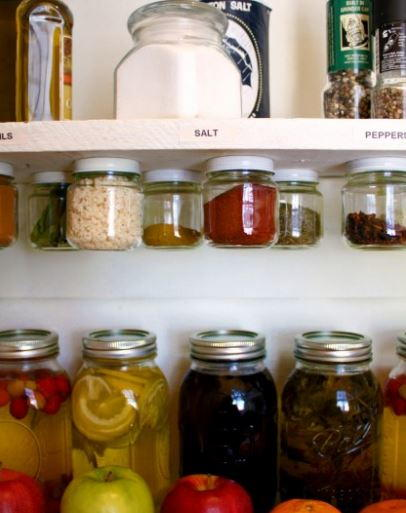 Spice Jar DIY Kitchen Rack