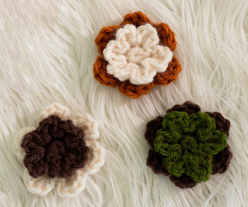 Cute And Simple Crochet Flowers Allfreecrochet