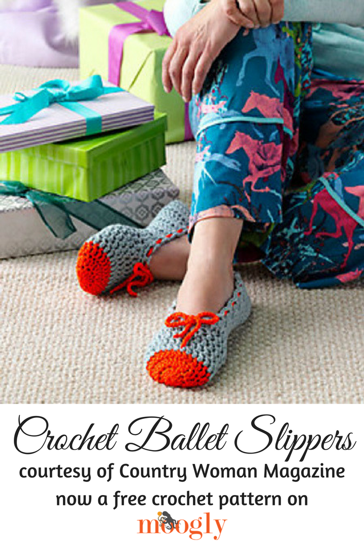 Crochet Ballet Slippers   AllFreeCrochet.com