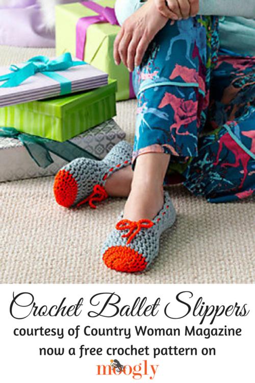 Crochet Ballet Slippers | AllFreeCrochet.com