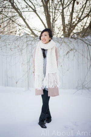 Ice Queen Garter Stitch Scarf