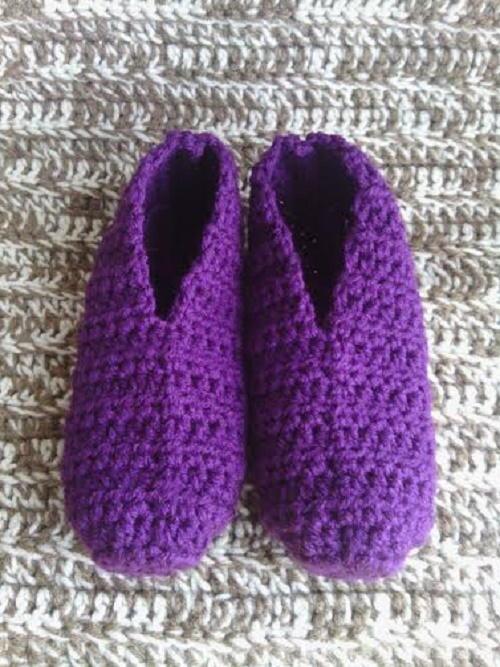 Womens Quick And Easy Slipper Socks Allfreecrochet