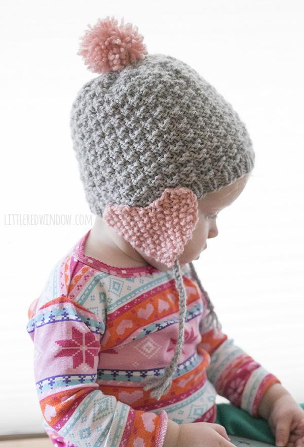 Valentine Heart Earflap Hat Allfreeknitting