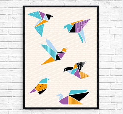 Origami Cranes Printable Wall Art