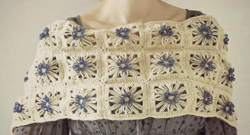 Daisies in the Field Scarf