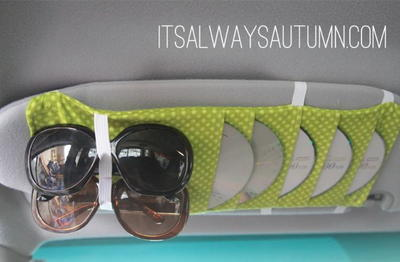 Car Visor DIY Organizer