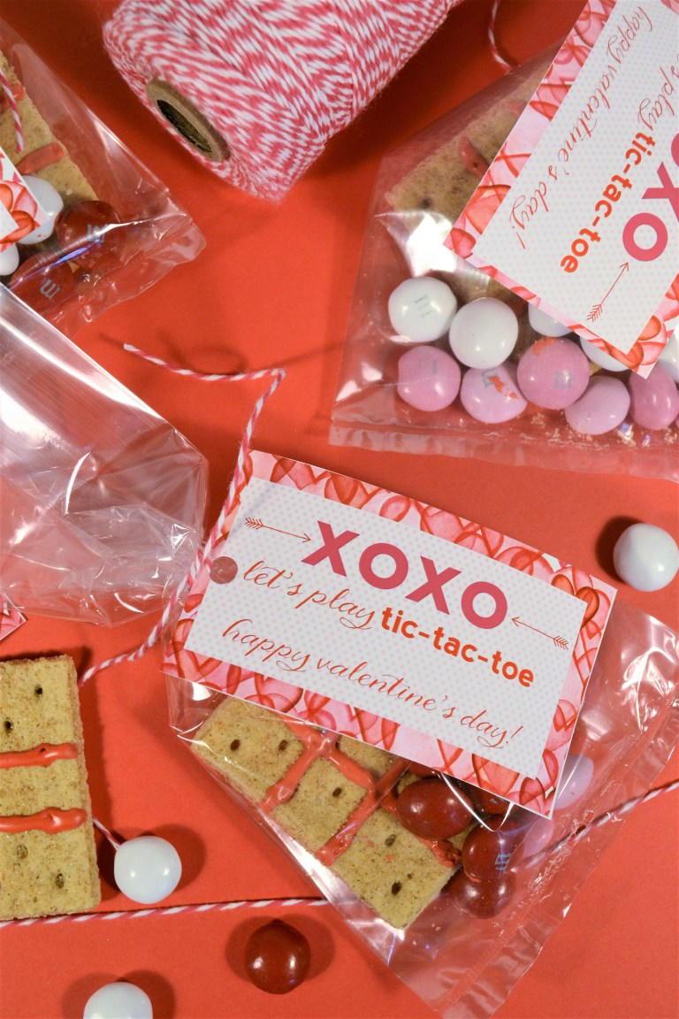 Valentines Day Printable Tag (Tic Tac Toe) | FaveCrafts.com