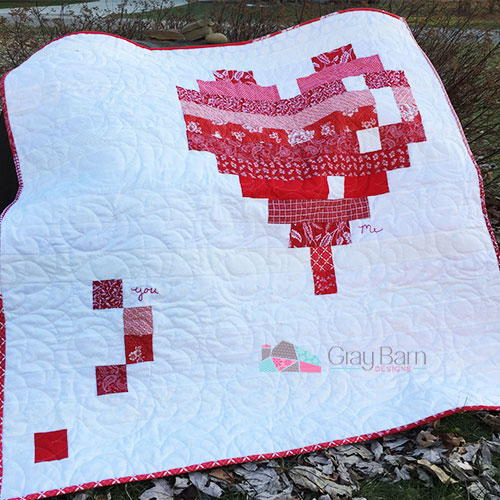 EHeart Quilt Pattern FaveQuilts Simple Heart Quilt Pattern